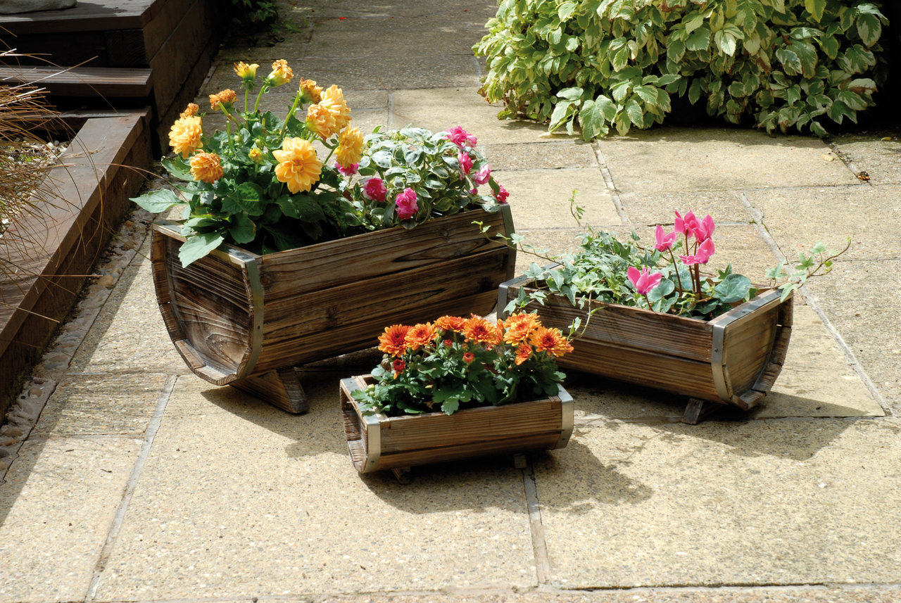 Commercial Wooden Planters