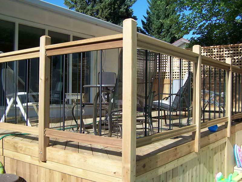 Cool Cedar Deck Railing Designs