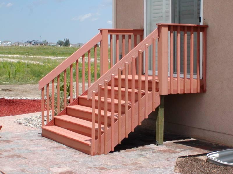Deck Balusters Redwood Color