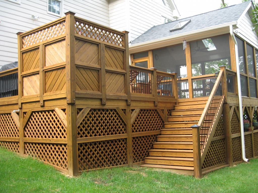 Deck Railing With Lattice Panel Underskirt : Rickyhil ...