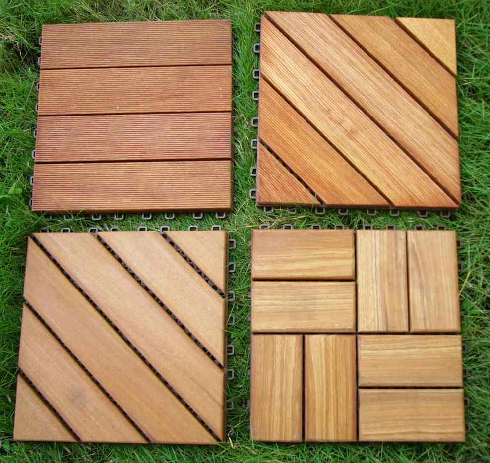 Deck Tiles On Grass