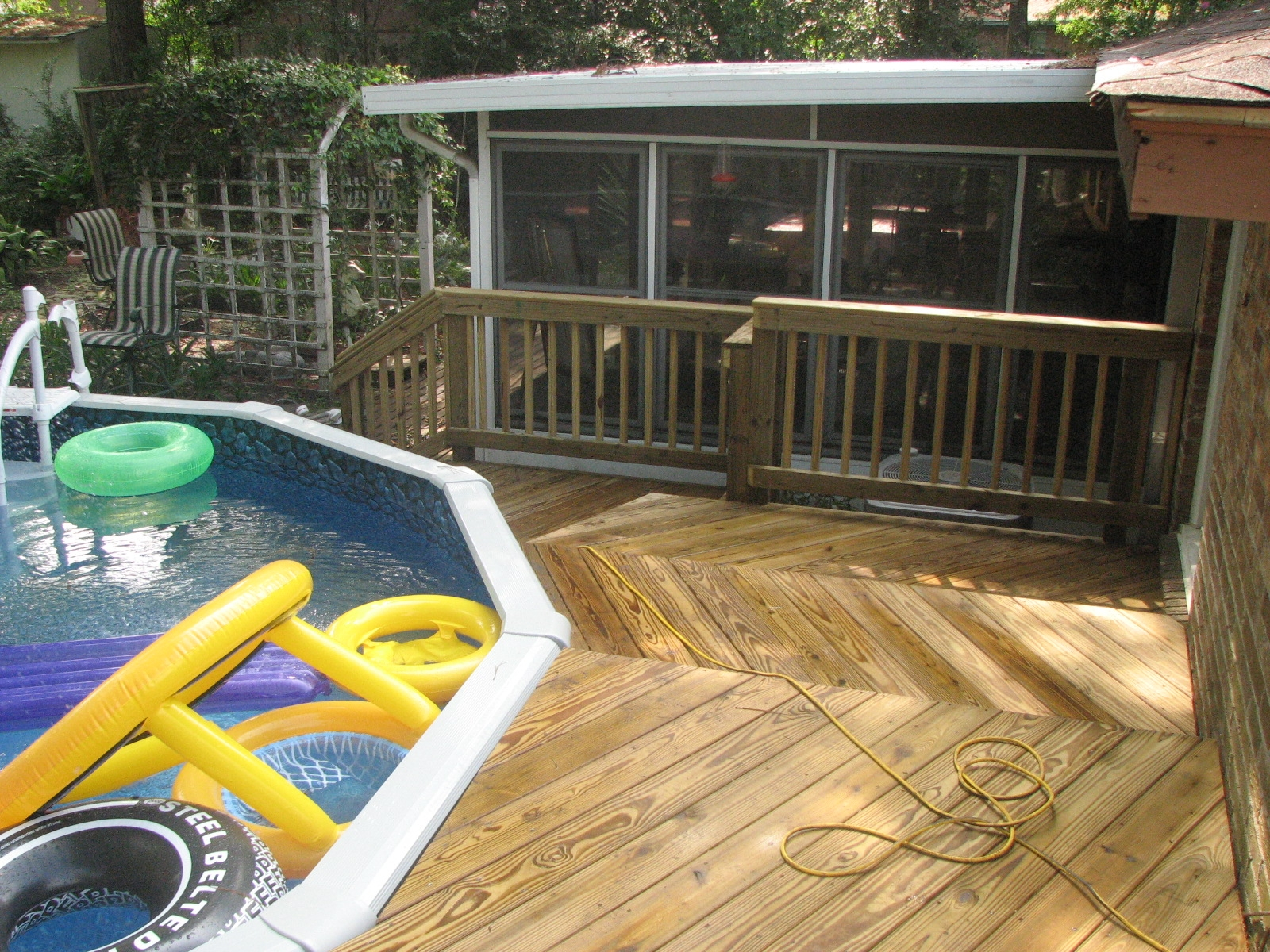 Ideas For Winter Above Ground Pool Deck Rickyhil Outdoor