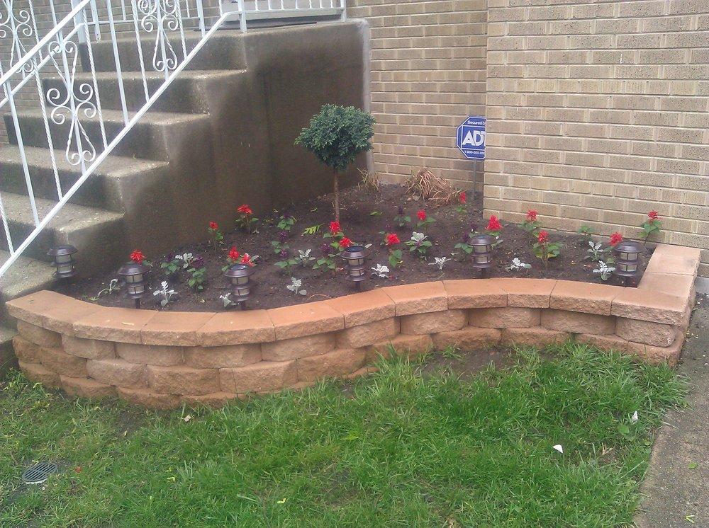 Natural Brick Raised Flower Bed Fresh