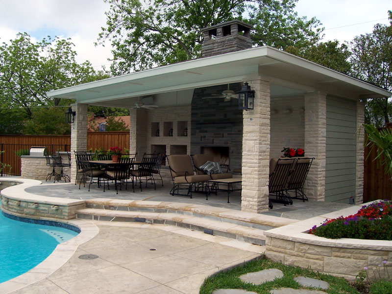 Outdoor Rooms And Pools