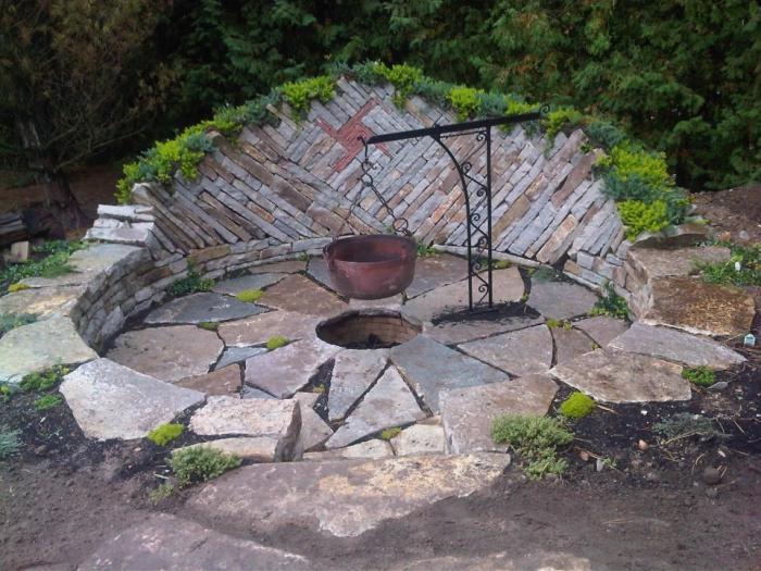 Backyard Fire Pit Stone