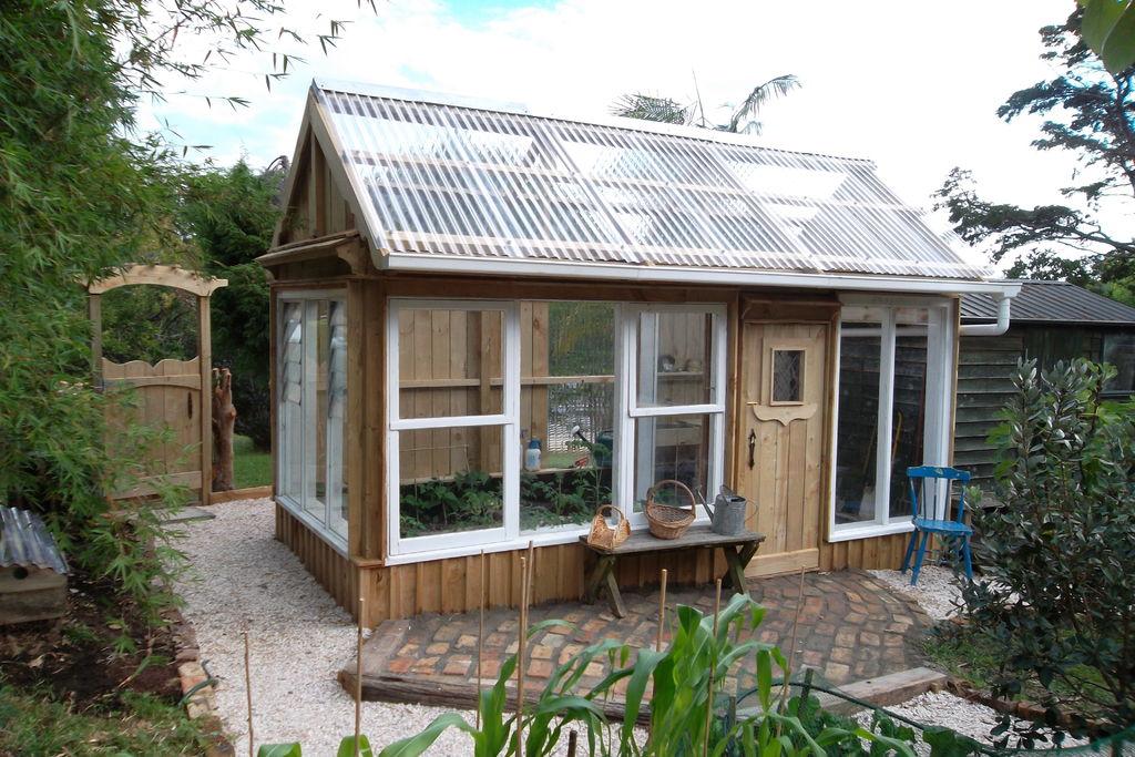 Backyard Greenhouse Wood And Glass