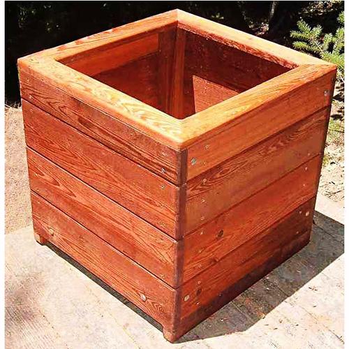 Brown Wood Planter Box