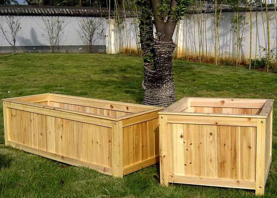 DIY Wood Planter Boxes