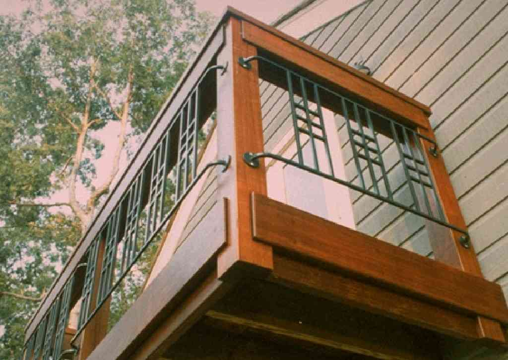 Ipe Balcony Meta Railings