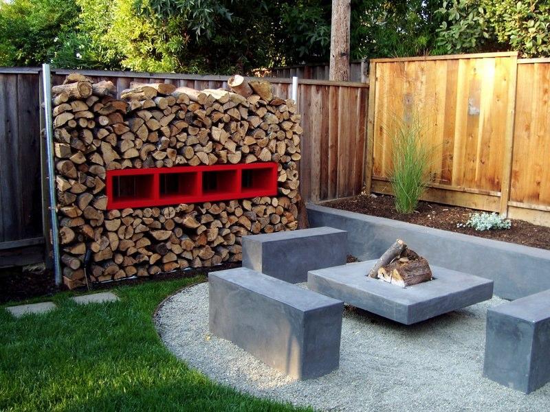 Modern Backyard Fire Pit