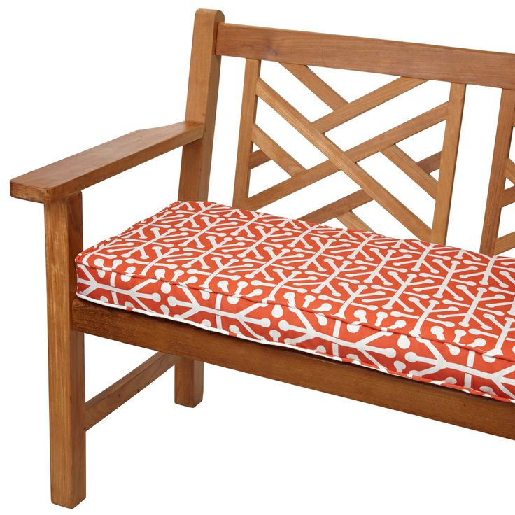 Outdoor Corded Bench Cushion