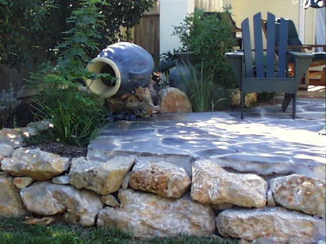 Rock  Borders For Flower Beds