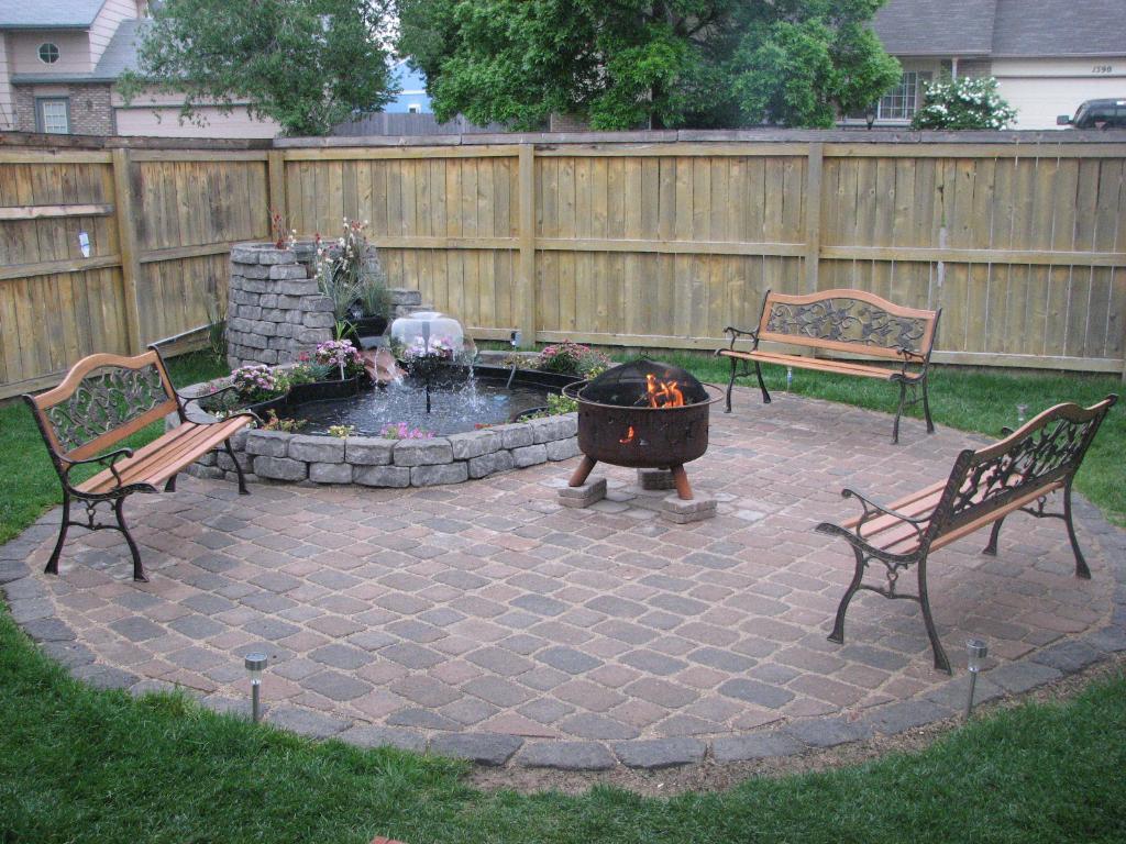 Backyard Ground Outdoor Fire Pit Design Ideas