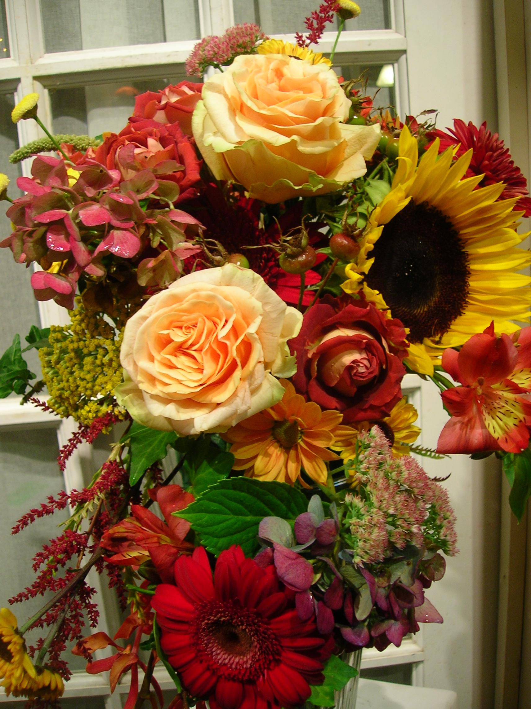 Exterior Fall Flower Arrangements