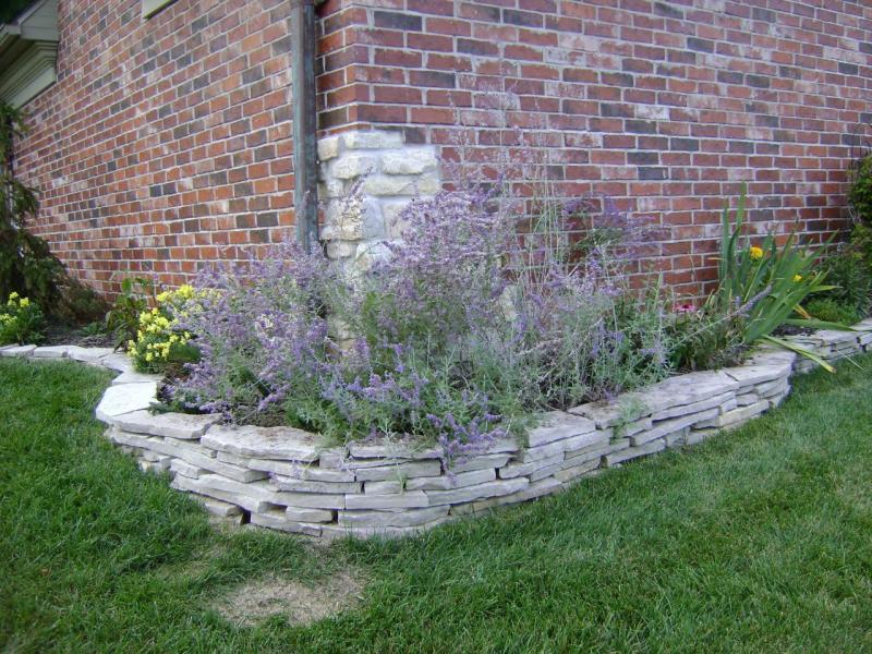 Stone Borders For Flower Beds Design