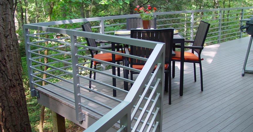 Contemporary Metal Railings For Decks
