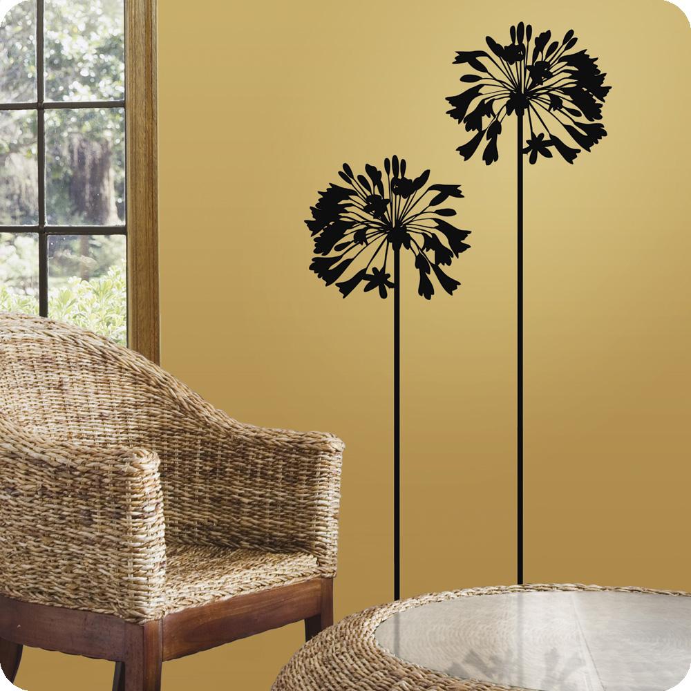 Wonderful Flower Wall Decals — Rickyhil Outdoor Ideas