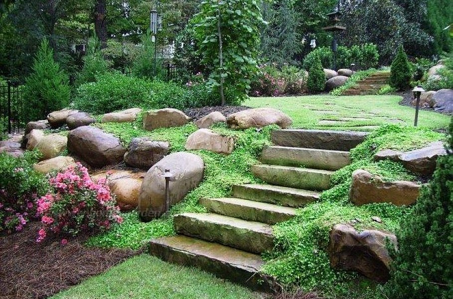 Landscaping Ideas Front Yard Hill — Rickyhil Outdoor Ideas on Backyard Hill Landscaping Ideas id=92016