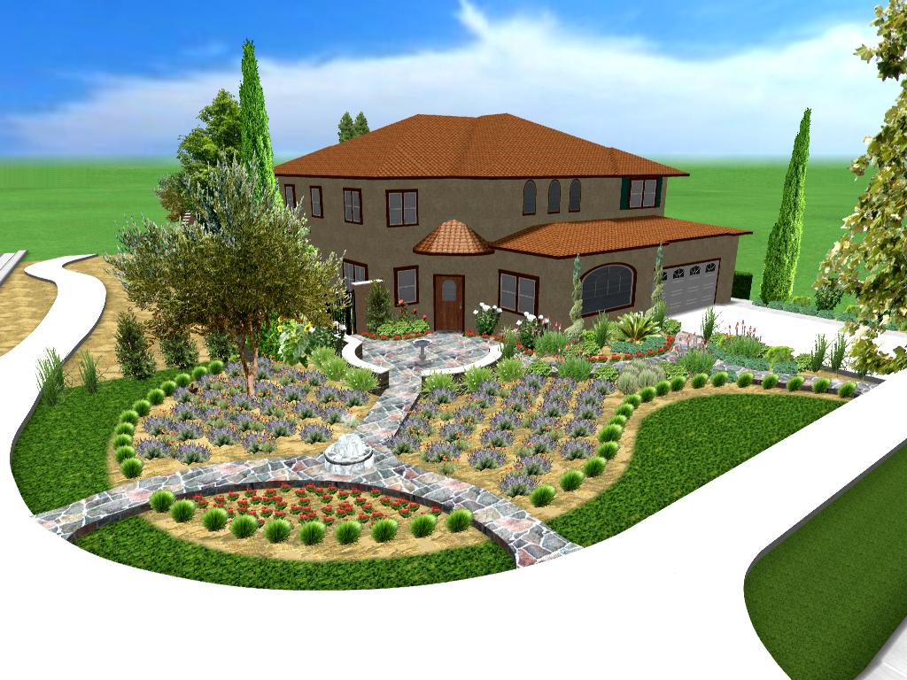 Landscape Ideas For Front Yard With Flower Bed