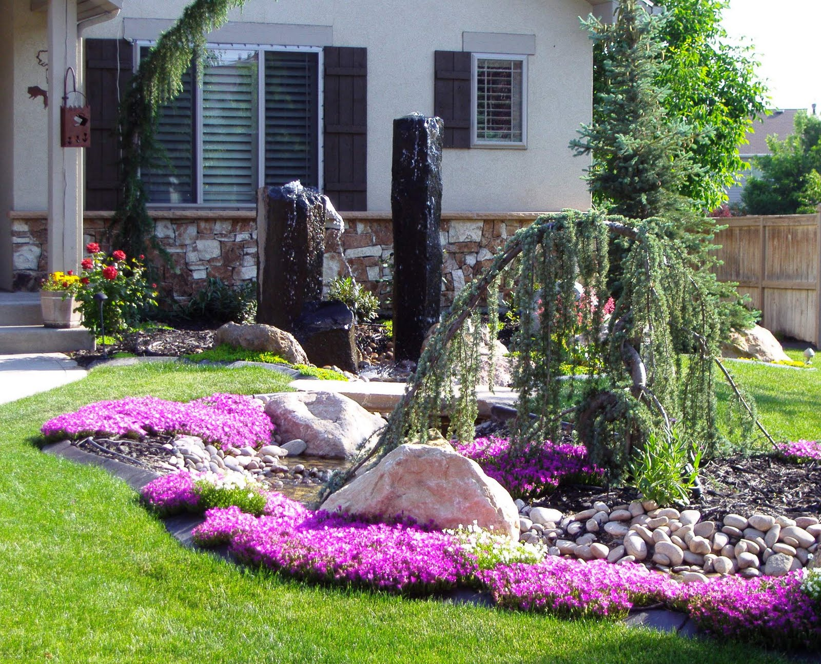 Landscape Ideas For Front Yard With Flowers
