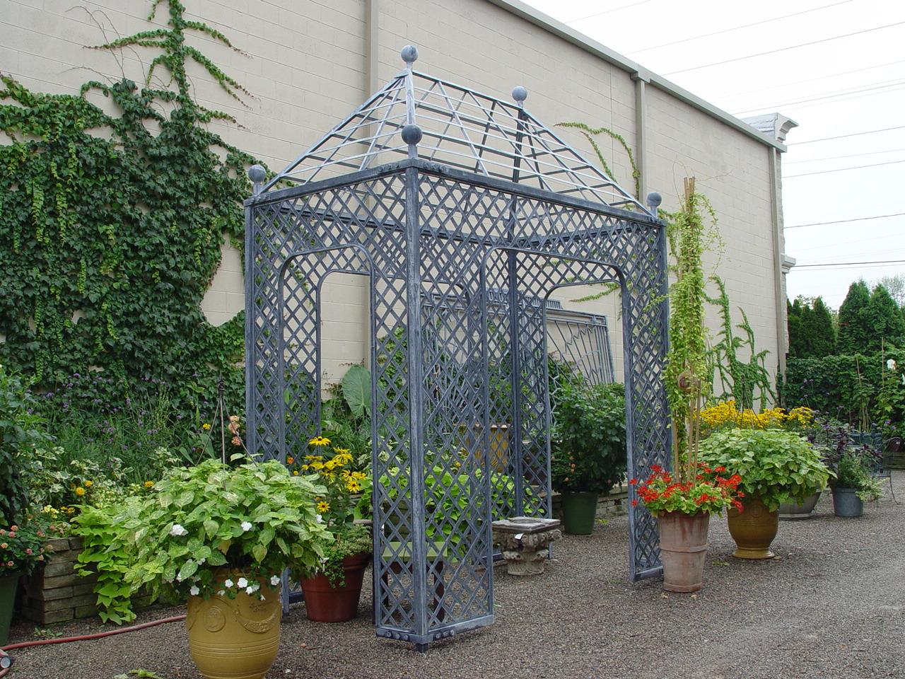 Beautiful Metal Pergola