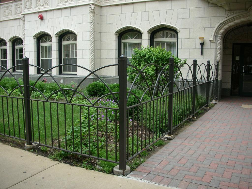 Black Iron Fence Panels