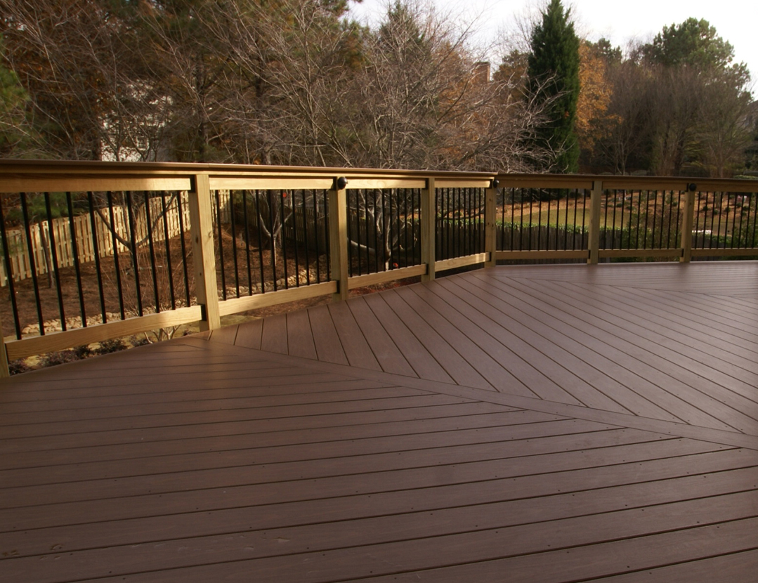Brown PVC Decking