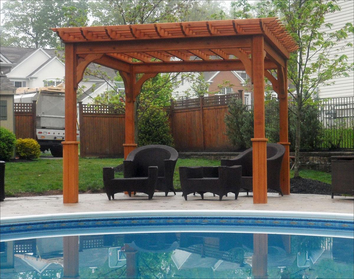 Cedar Pergola Pool