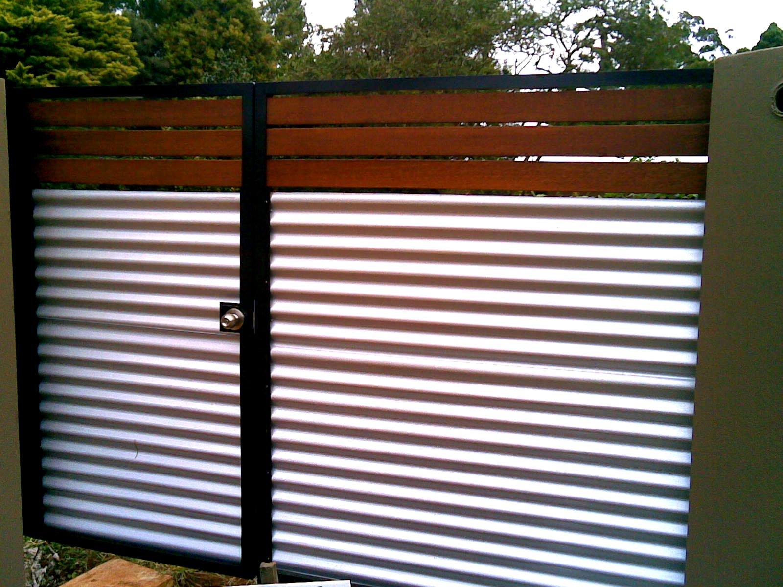 aluminum frame with wood door