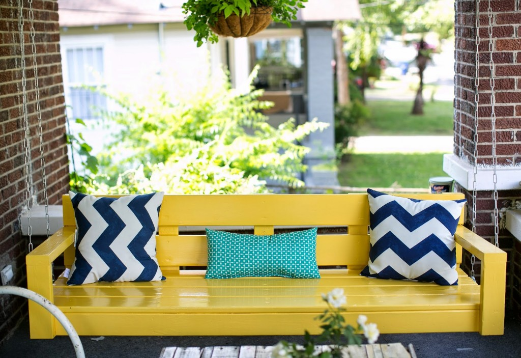 Diy Porch Swing Yellow
