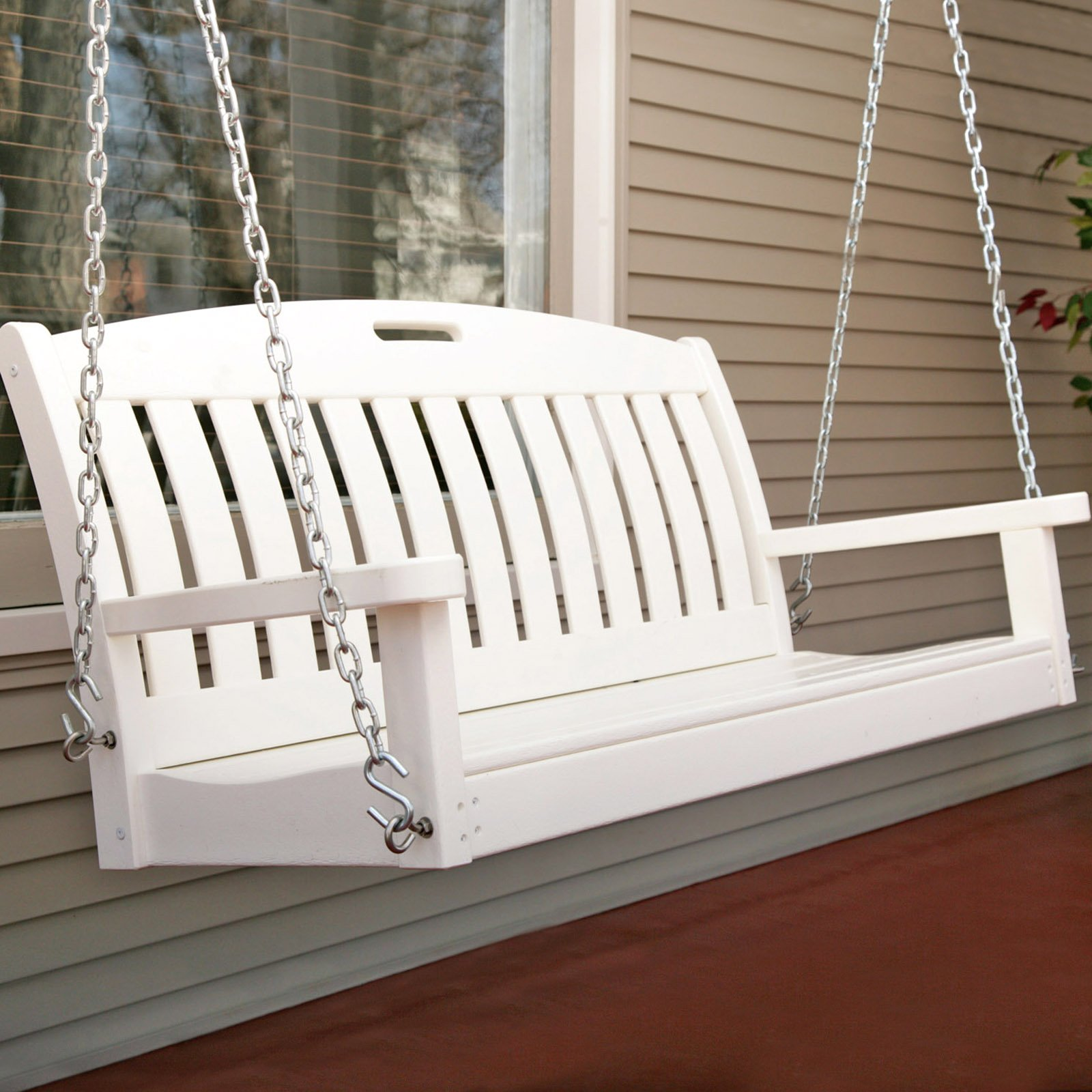 White Front Porch Swings