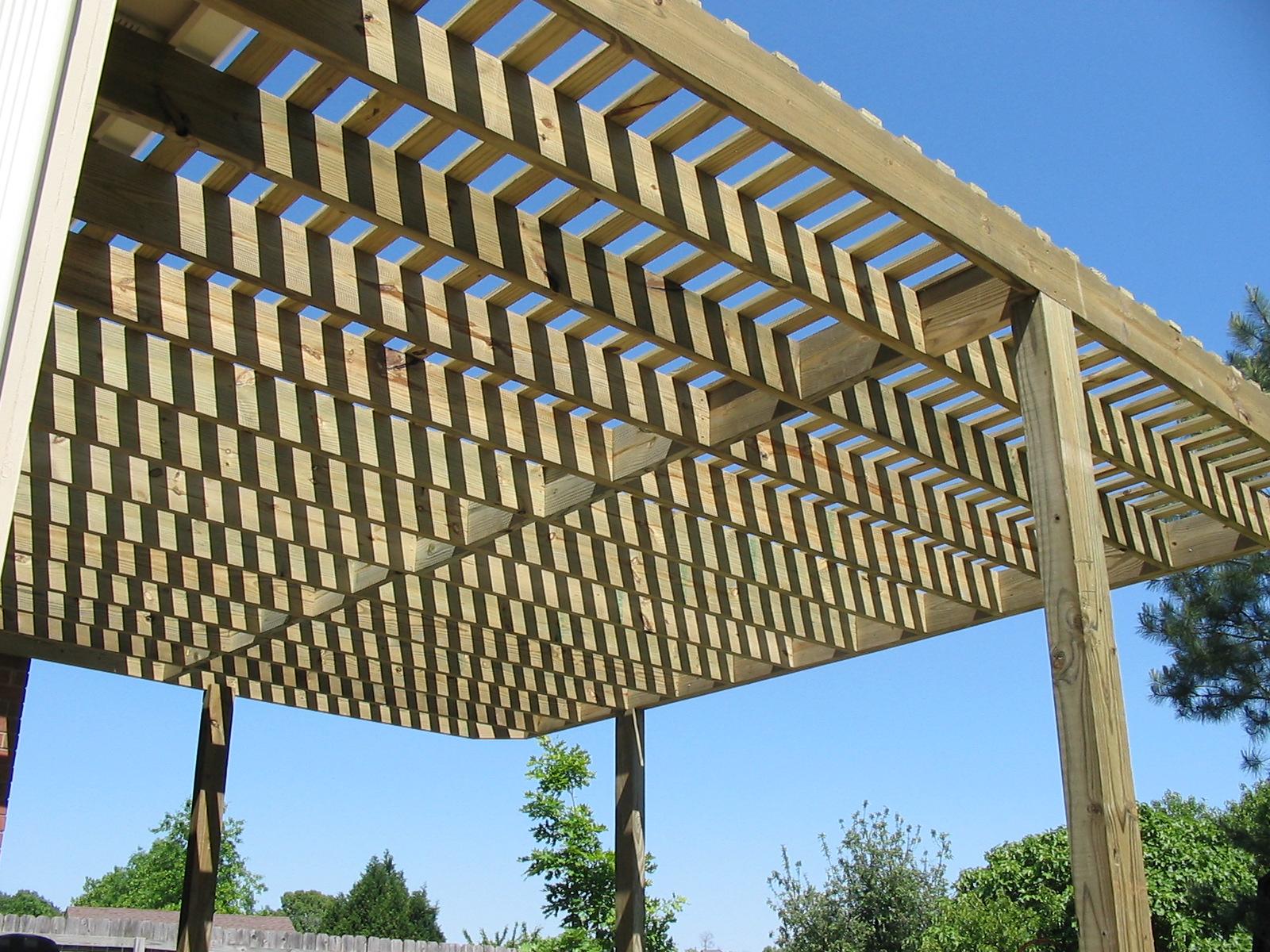 Wood Pergola Plan