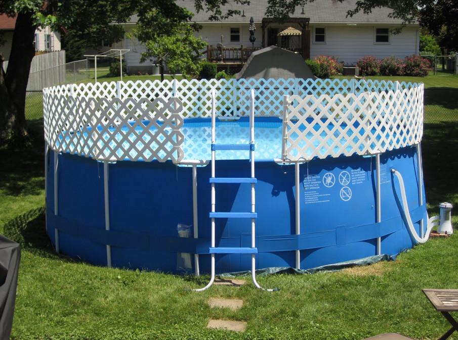 Diy Above Ground Pool Fence Rickyhil Outdoor Ideas