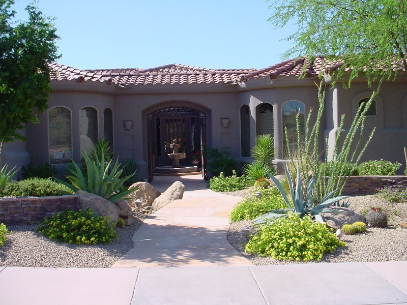 Xeriscape Front Yard Sample