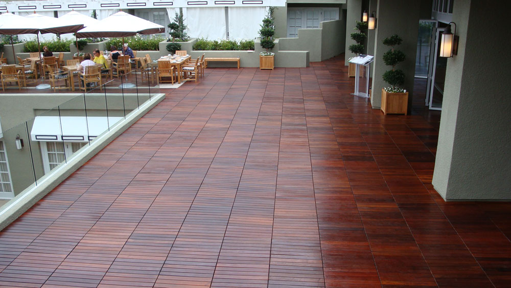 Luxury Rubber Outdoor Tile For Decks