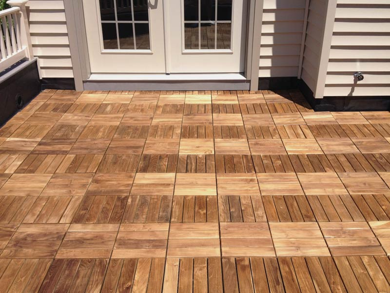 Wood Outdoor Tile For Decks