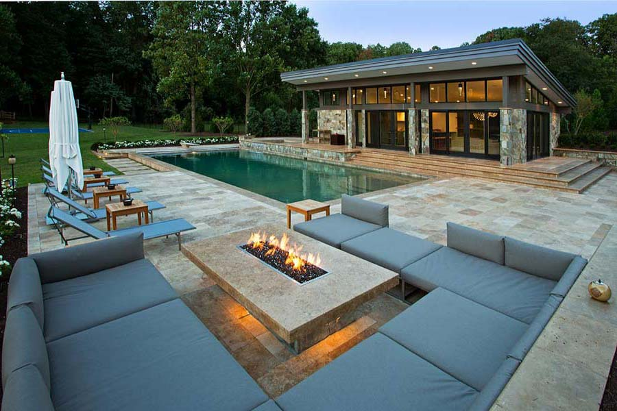 Outdoor Natural Gas Fire Pit Has Many Uses — Rickyhil ...