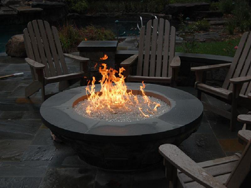 Outdoor Natural Gas Fire Pit Design