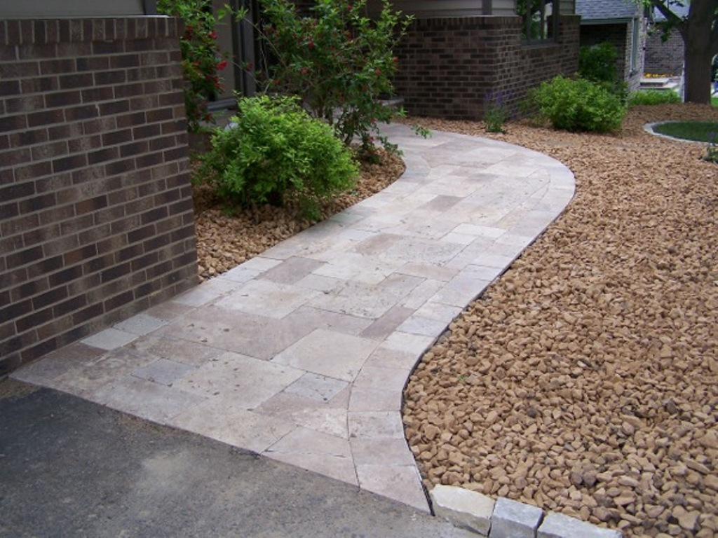 walkway pavers and crushed stone rickyhil outdoor ideas brick