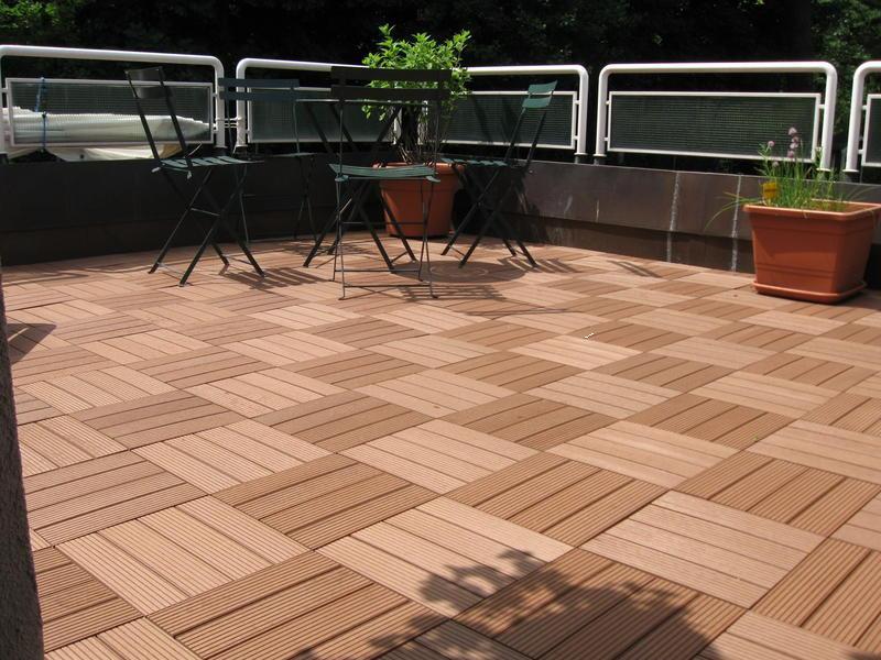 Outdoor Composite Deck Tiles