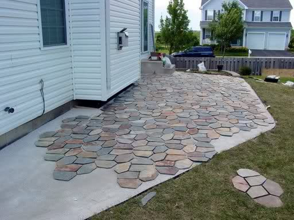 Outdoor Slate Tile Installation