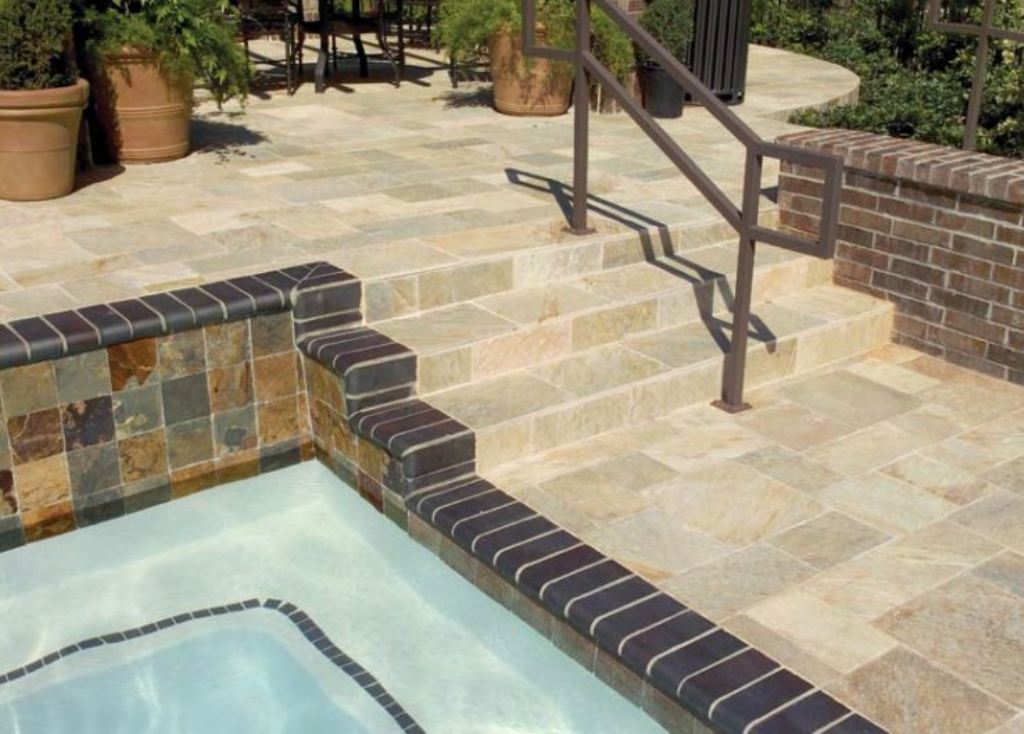 Outdoor Slate Tile Patio