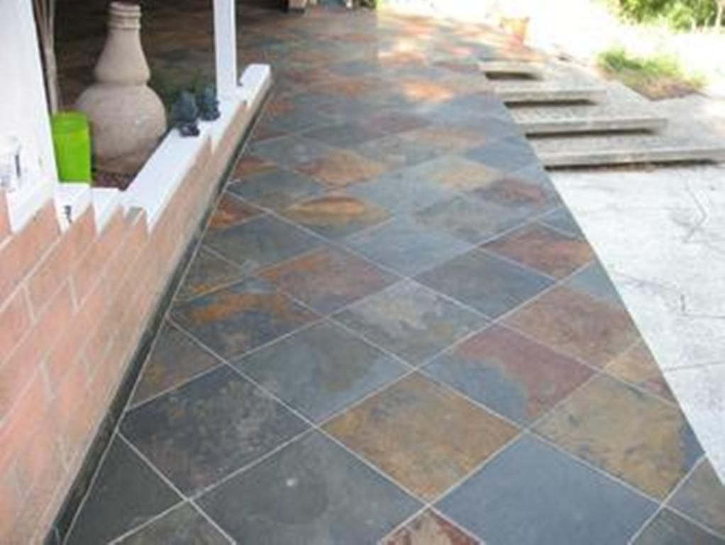 Outdoor Slate Tile Plan
