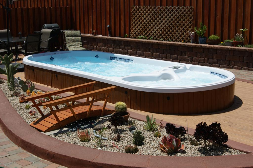 Small Hot Tub Pool Combo Rickyhil Outdoor Ideas How To A Hot Tub