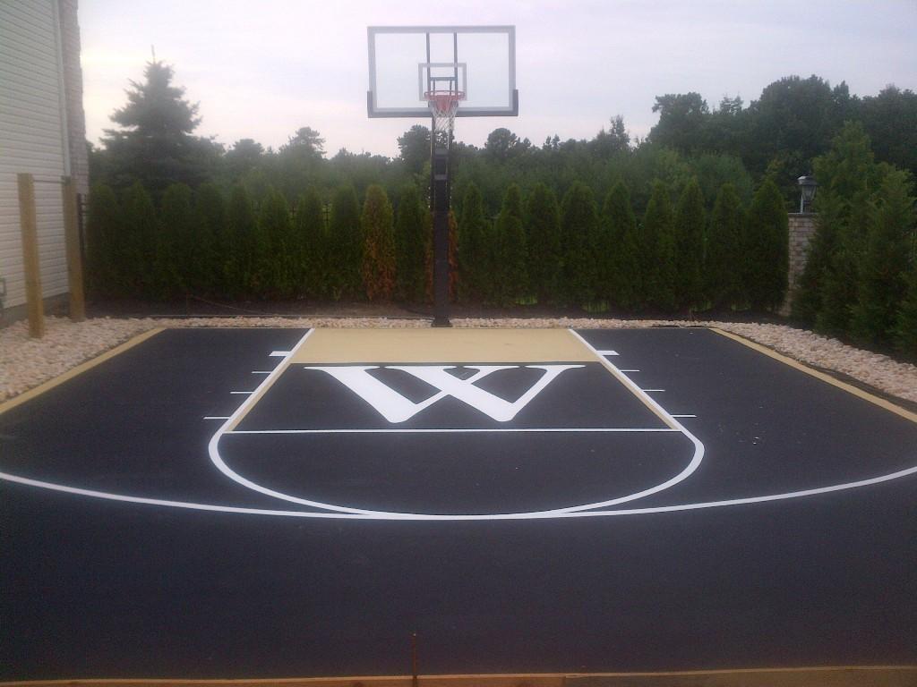 Backyard Basketball Court Netting Rickyhil Outdoor Ideas Diy