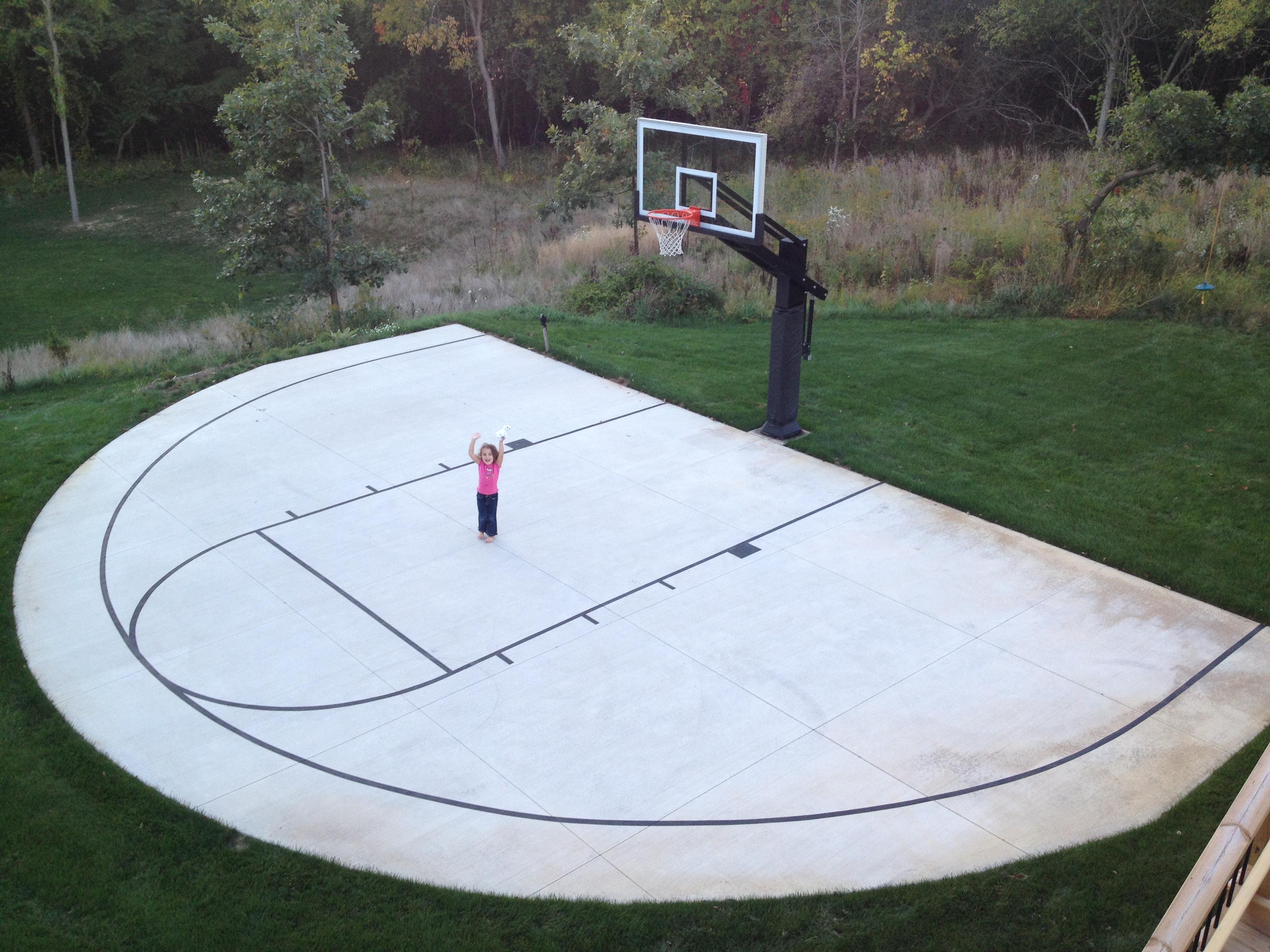 Backyard Basketball Court No Concrete Rickyhil Outdoor Ideas Diy