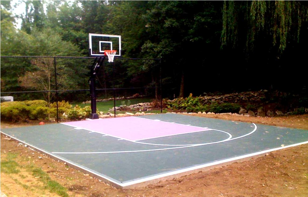 Backyard Basketball Court Rickyhil Outdoor Ideas Diy
