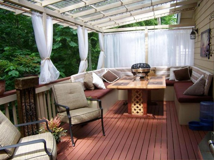 Backyard Deck Ideas Curtains