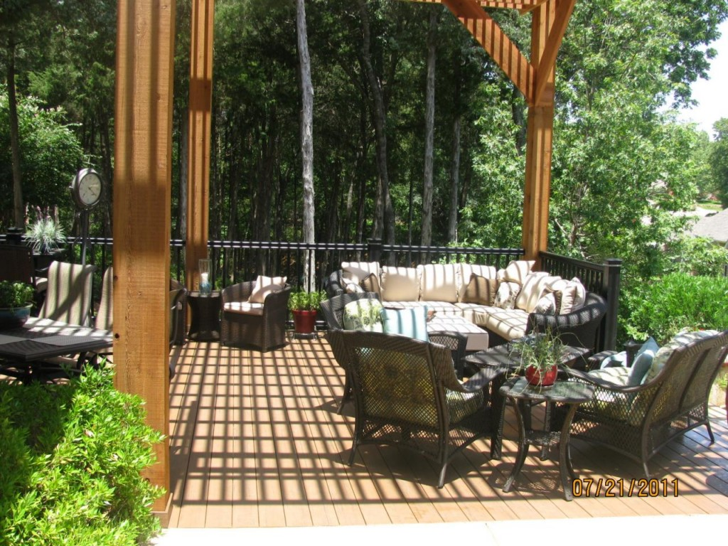 Backyard Deck Plans Furniture