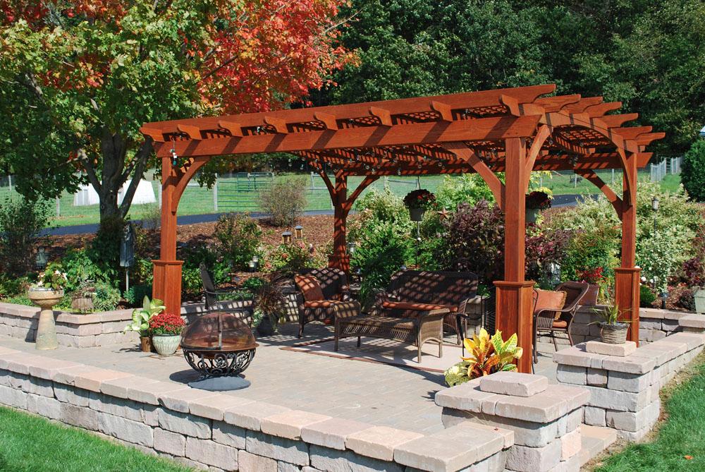 Backyard Pergola For Decoration